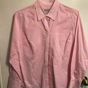 Merona pink gingham checked button down